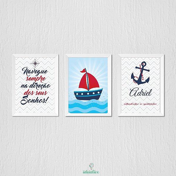 Quadro Infantil marinheiro e significado do nome