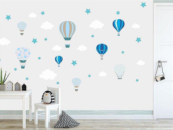 Adesivo Parede Infantil Balão e Estrela