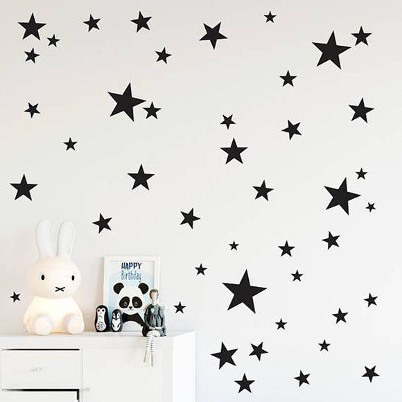 Adesivo de Parede Estrela Preta