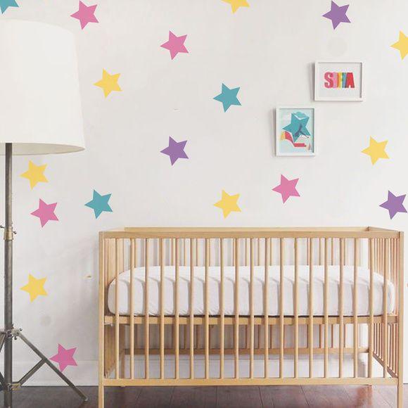 Adesivo Parede Infantil Estrela Colorida