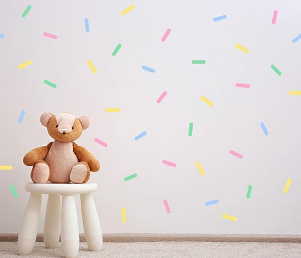 Adesivo Parede Infantil Confeito Colorido
