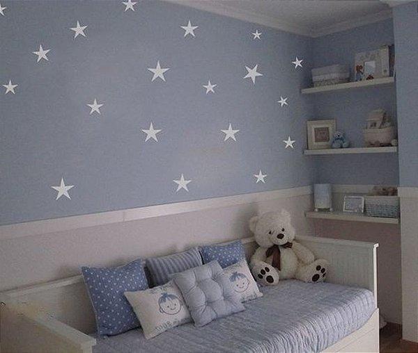 Adesivo Parede Infantil Estrela Branca