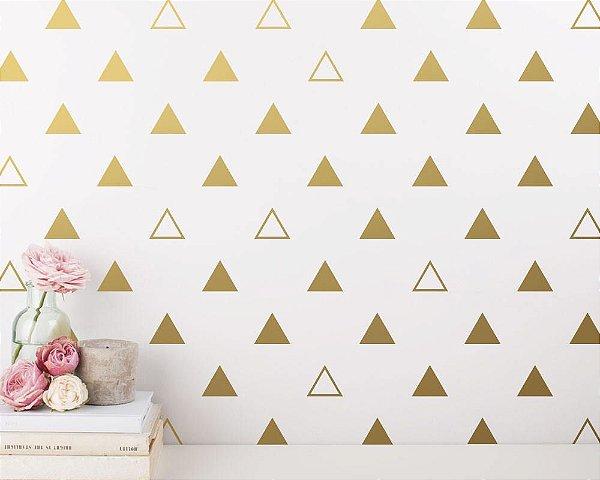 Adesivo de Parede Triângulo Dourado
