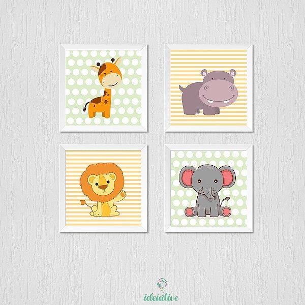 Quadro Infantil Animais Zoo