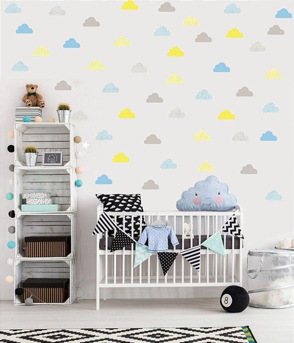Adesivo de Parede Nuvens Coloridas