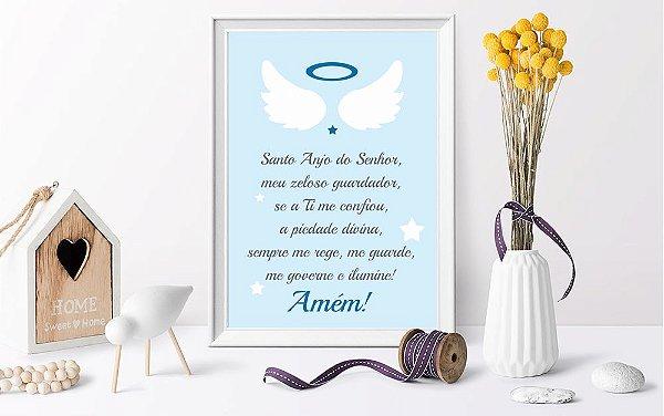 Quadro Infantil Oração Santo Anjo do Senhor