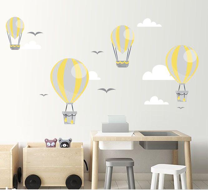 Adesivo para Quarto Infantil balões e nuvens