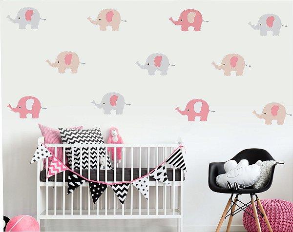 Adesivo Infantil Elefantinhos