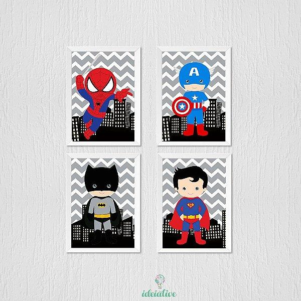 Quadro Infantil Super Heróis