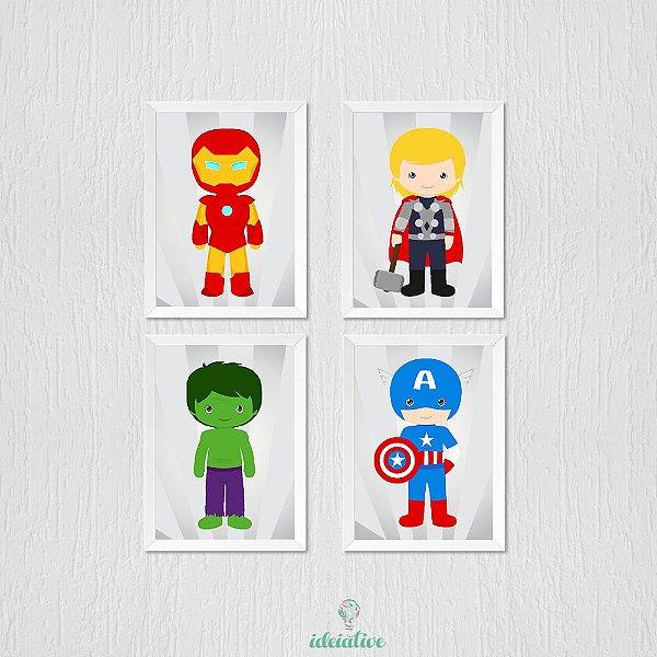 Quadro Super Herois Vingadores Baby