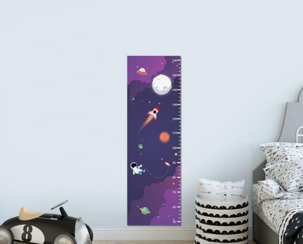 Régua de Crescimento Espaço Astronauta