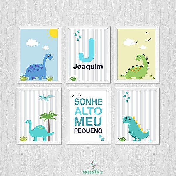 Kit de Quadros Infantis Dinossauro