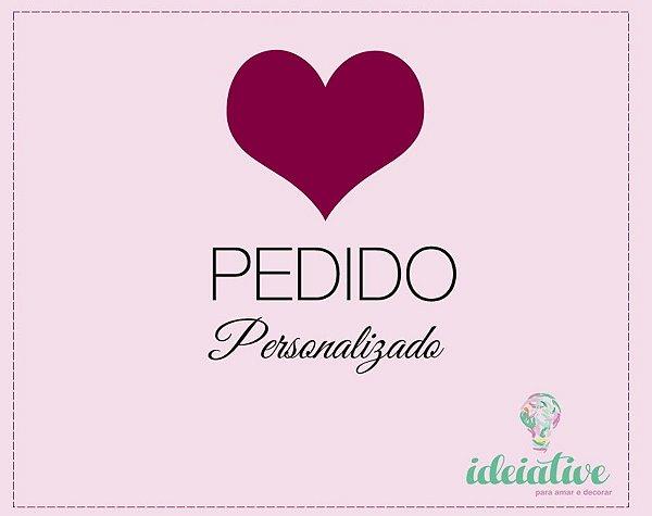 Kit de Quadro Menina + Adesivos de Coração: Kit Personalizado