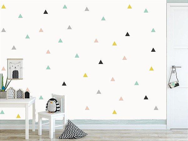 Adesivo triangulo colorido - mini