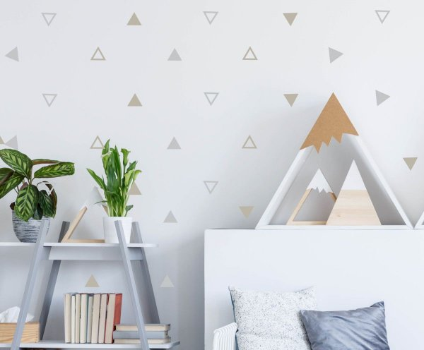 Adesivo triangulo solido e vazado