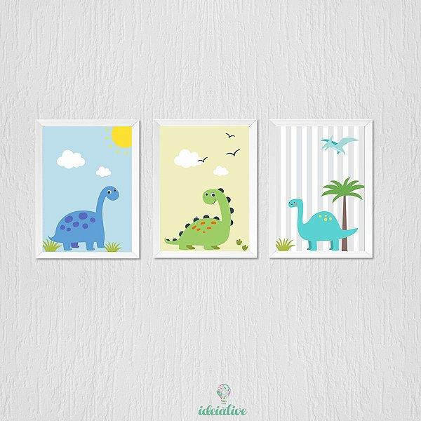 Quadro Infantil Dinossauros