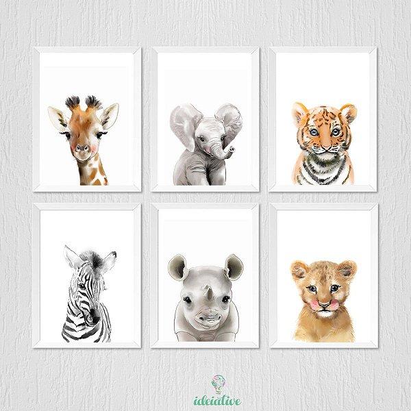 Quadros para Decoração Bebê Safari
