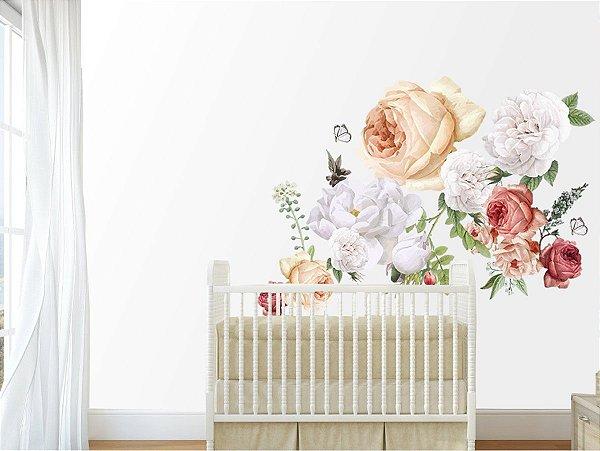 Adesivo de Parede Flor - Rosa