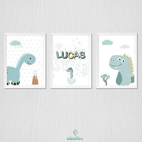 Quadro Dinossauro e Nome Personalizado