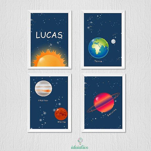 Kit de Quadro Infantil Planetas