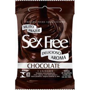 PRESERVATIVO COM AROMA DE CHOCOLATE COM 3un - SEX FREE