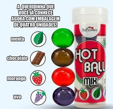 HOT BALL MIX BEIJA MUITO 4UN - HOT FLOWERS