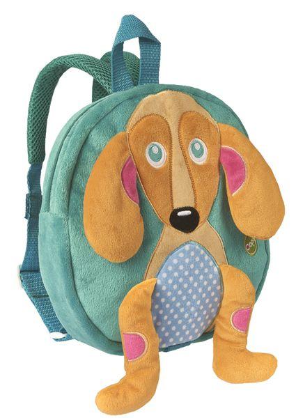 Mochila infantil com alça de segurança, Cachorro Happy, da Oops