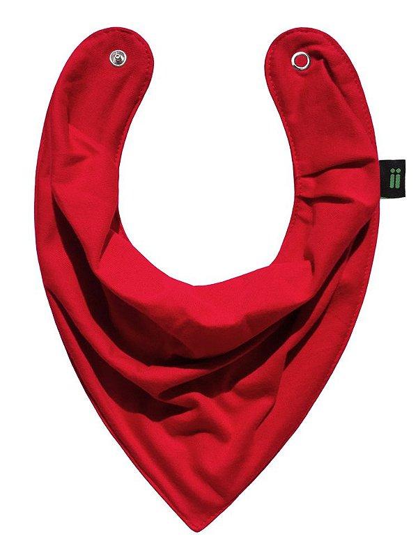 Babador Bandana, Vermelho Morango, da Gumii, tamanho único