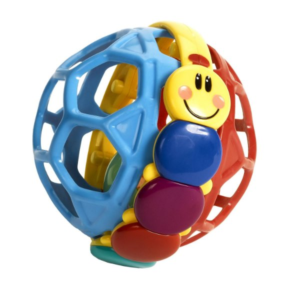 Bola Bendy-ball com chocalho, da Baby Einstein, para a partir de 3 meses