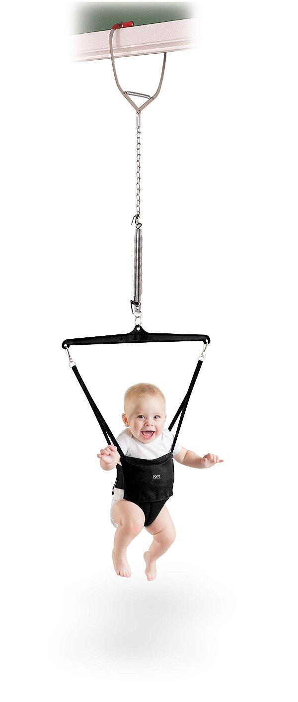 Cadeira Pula Pula com Prendedor de Porta, Jolly Jumper, PRETO
