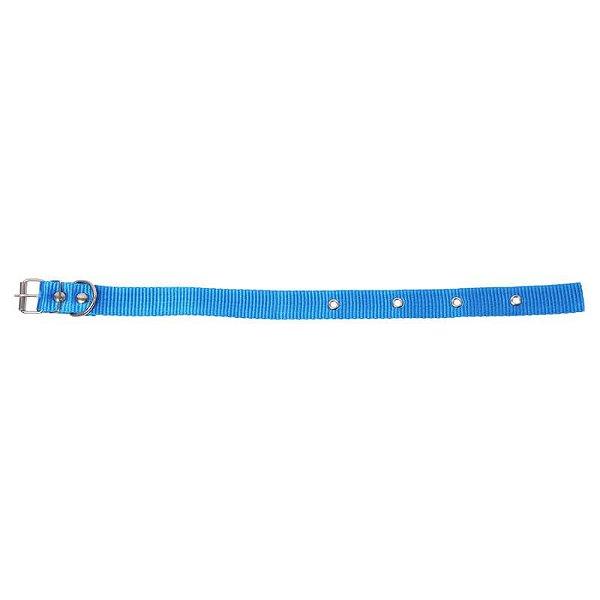 Coleira de Seda Azul Simples 15mm Loopy
