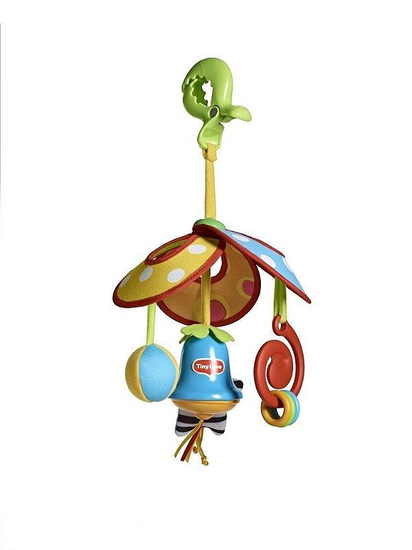 Mini Móbile Pack & Go da Tiny Love, com sino, chocalho espiral e asas dobráveis