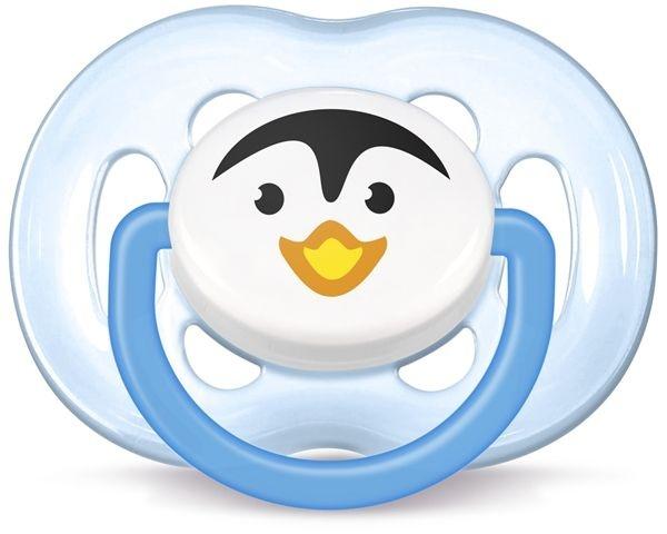 Chupeta Free flow ortodôntica, Pinguim, tamanho 2, 6-18 meses, da  Philips Avent