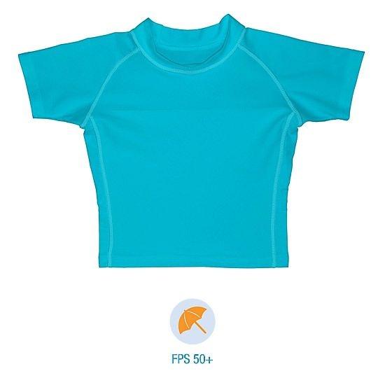 Camiseta infantil de banho, Manga Curta, Azul Claro da Iplay com FPS 50+