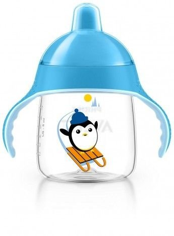 Copo Pinguim 260ml, cor azul, Philips Avent