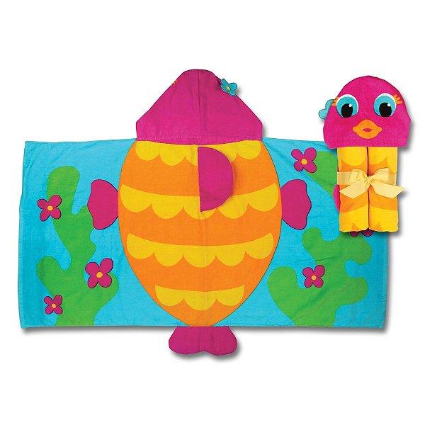 Toalha de banho infantil com capuz, tema Peixe, da Stephen Joseph