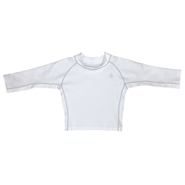 Camiseta infantil de banho, Manga Longa, Branca da Iplay com FPS 50+