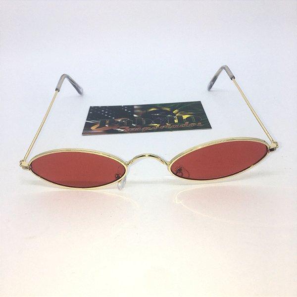 Óculos Vintage Oval - Red/Gold