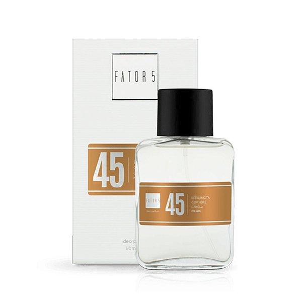 Perfume 45 - Bergamota, Gengibre e Canela Referência olfativa de Presence De Mon