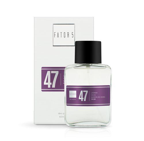 Perfume 47 - Lavanda, Cacau e Madeira de Cedro 60 ml Referência olfativa de Animale