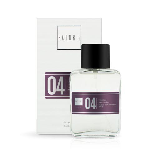 Perfume 04 - Verbena, Manjericão e Musgo de Carvalho 60 ml Referência olfativa de Drakkar Noir