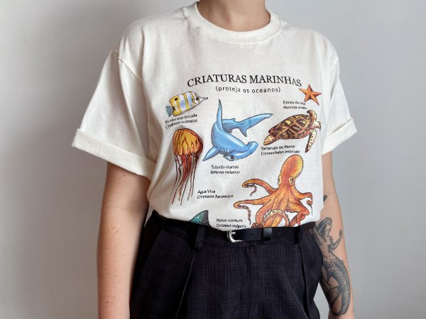 Camiseta Criaturas Marinhas