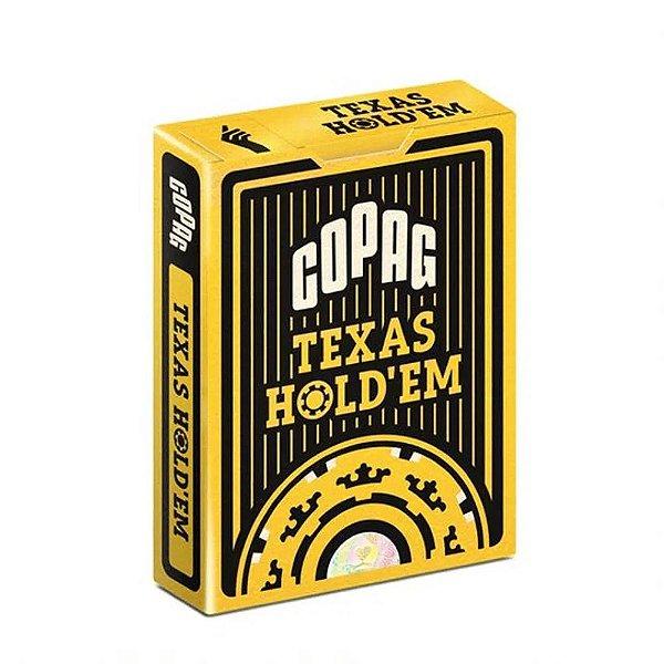 Baralho de Poker Copag Texas Hold'em Preto
