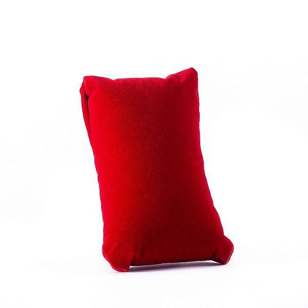 Almofada Para Relógio Veludo com TNT 10x6 cm Vermelho | 1 Uni