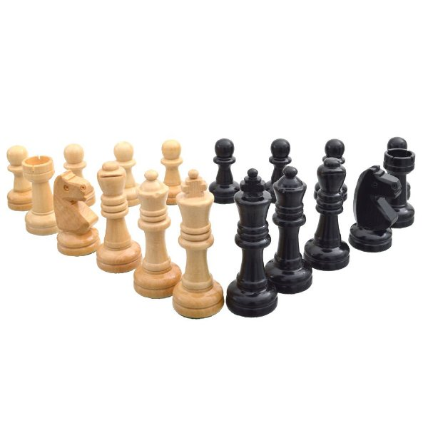 Peças de Xadrez Madeira Maciça Chumbadas Rei 10 cm | Kit 32 unidades
