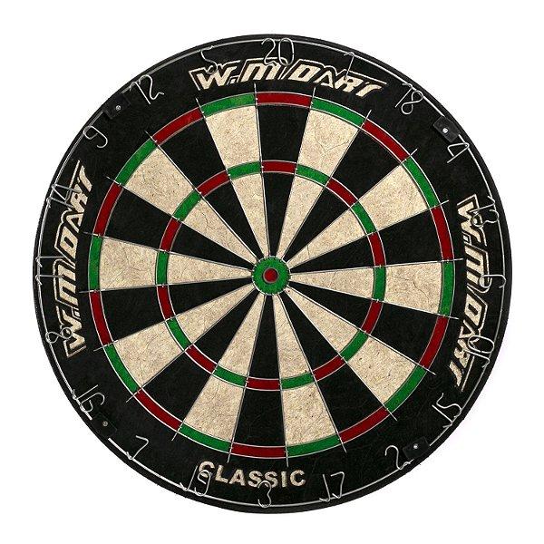"Jogo de Dardo W.M Dart Classic Alvo Sisal 18"" & 2 kits de Dardos"