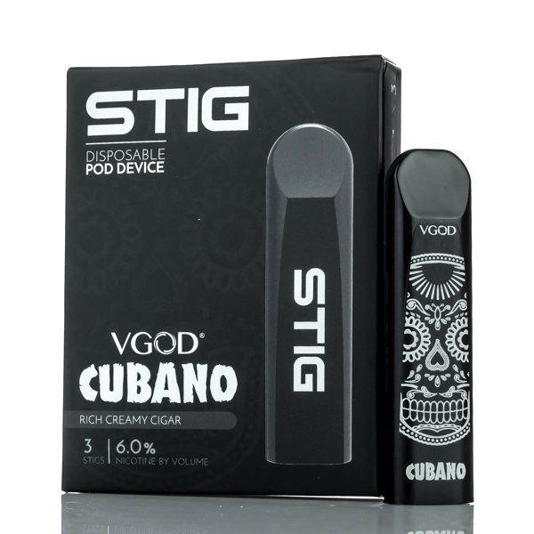Pod System Descartável (Disposable Pod Device) Stig - Cubano | Vgod