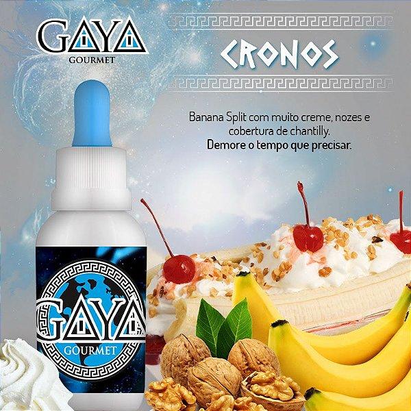 Liquido GAYA Gourmet  Cronos (Banana - Baunilha)