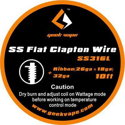 Fio SS316L Flat Clapton Wire - Geek Vape