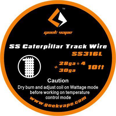 Fio SS316L Caterpillar Track Wire - Geek Vape